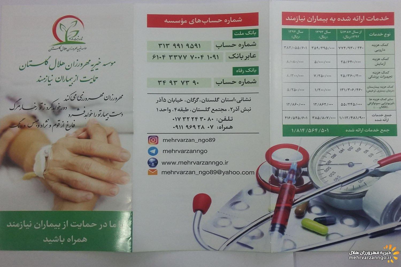 بروشورهای سال 93-94 موسسه خیریه مهرورزان هلال گلستان